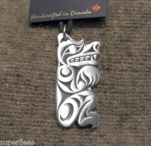 HAIDA-design-Symbol-of-Strength-Grizzly-BEAR-NECKLACE