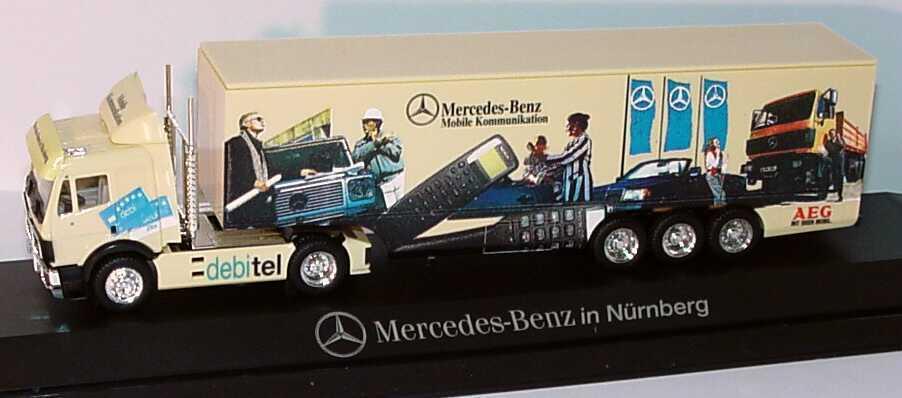 1 87 Mercedes-Benz sk valise-semi-remorque MB à Nuremberg Debitel-pc-HERPA
