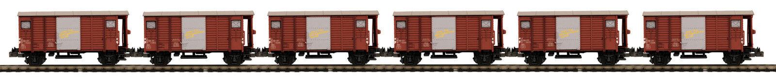 MTH  O  Scale 2 Rail SBB-CFF Guterwagen Box 6 Car Set 20-90913