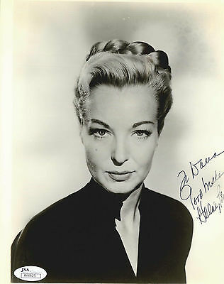 Hillary Brooke deceased Actress Signed 8x10 Studio Promo Coa R66825 Neither Too Hard Nor Too Soft