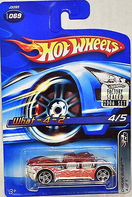 Autos, Lkw & Busse Hot Wheels 2006 Chrom Burnez What-4-2 #069 Rot Werkseitig Versiegelt