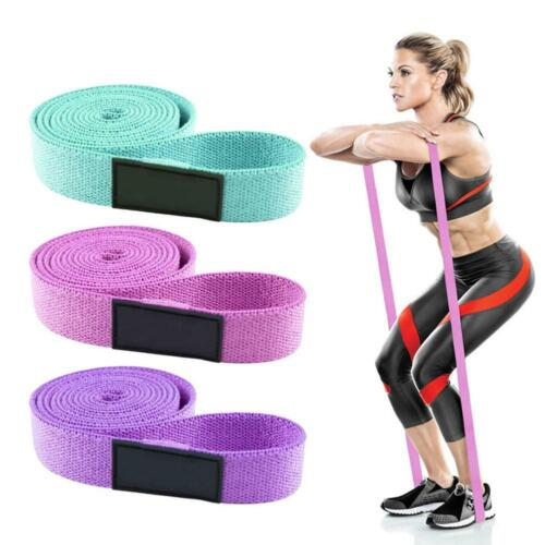 Fabric Long Resistance Band Pull Up Workout Heavy Duty Body Fitness Yoga E6C4