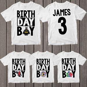 Birthday-Boy-T-shirt-Personalised-Name-Kids-Boys-Girls-Children-Birthday-T-Shirt