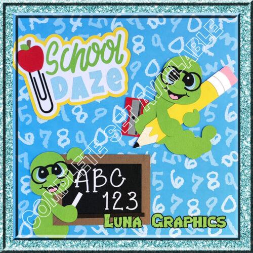 SCHOOL DAZE WORM with PENCIL /& SHARPENER Embellishments Card making Scrapbooking