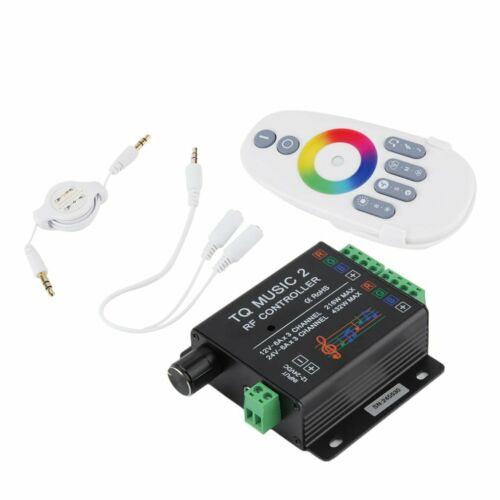 Sound Audio LED RGB RF Music Controller Touch Remote 2 Channel 12//24V 18A U@