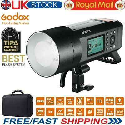GODOX AD400Pro 400Ws Tubes TTL 2.4G 1//8000s HSS Flash Strobe with 30W LED Modeling Lamp Lithium Battery 0.01-1s Recycle Time Compatible for Godox AD400pro Outdoor Flash AD400Pro Bulb