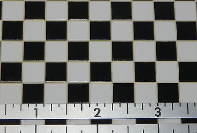 Dollhouse Miniature Floor Black & White Check Vinyl Tile MH 5930 1:12 Scale