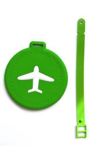 Nov@go® label luggage suitcase/label (plane) Green/round