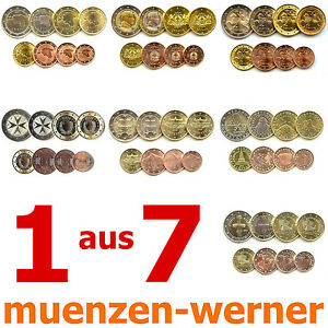 1-aus-7-KMS-neue-Euro-Muenze-Laender-Kursmuenzen-Satz-1c-2-Eurosatz-Muenzensatz-Set