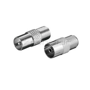3 Stk   Sat Koax Stecker Adapter F-Adapter IEC//Koax-Buchse F-Buchse