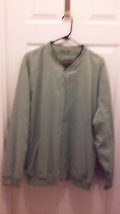 Mens-Izod-X-treme-Function-Golfwear-Green-Long-Sleeve-Pullover-Size-Large
