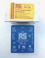 Rs 208 305 Pcb Mount Low Profile Block Power Transformer Prim 120v Sec 0 9v