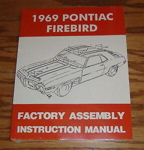 1969 pontiac firebird factory assembly instruction manual 69 ebay rh ebay com Barbie Instruction Manual Assembly Hewitt Dock Assembly Instruction Manuals