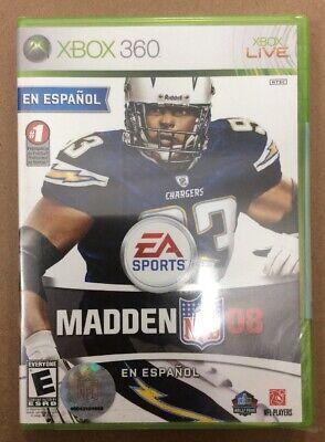 Madden Nfl 08 En Espanol Microsoft Xbox 360 2007 For Sale