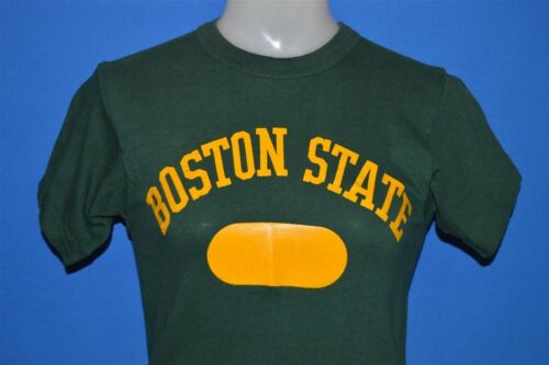 vintage 50s BOSTON STATE COLLEGE UMASS GREEN YELLO