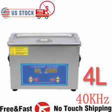 New Stainless Steel 4 L Liter Industry Heated Ultrasonic Cleaner Heater Withtimer