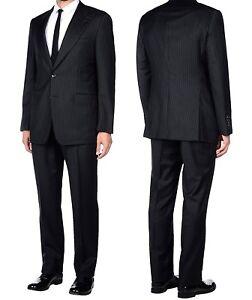 e7cf3ef7e Gucci Italy Black Pinstripe Wool Suit 2 Pc Blazer Pants Men's Size ...