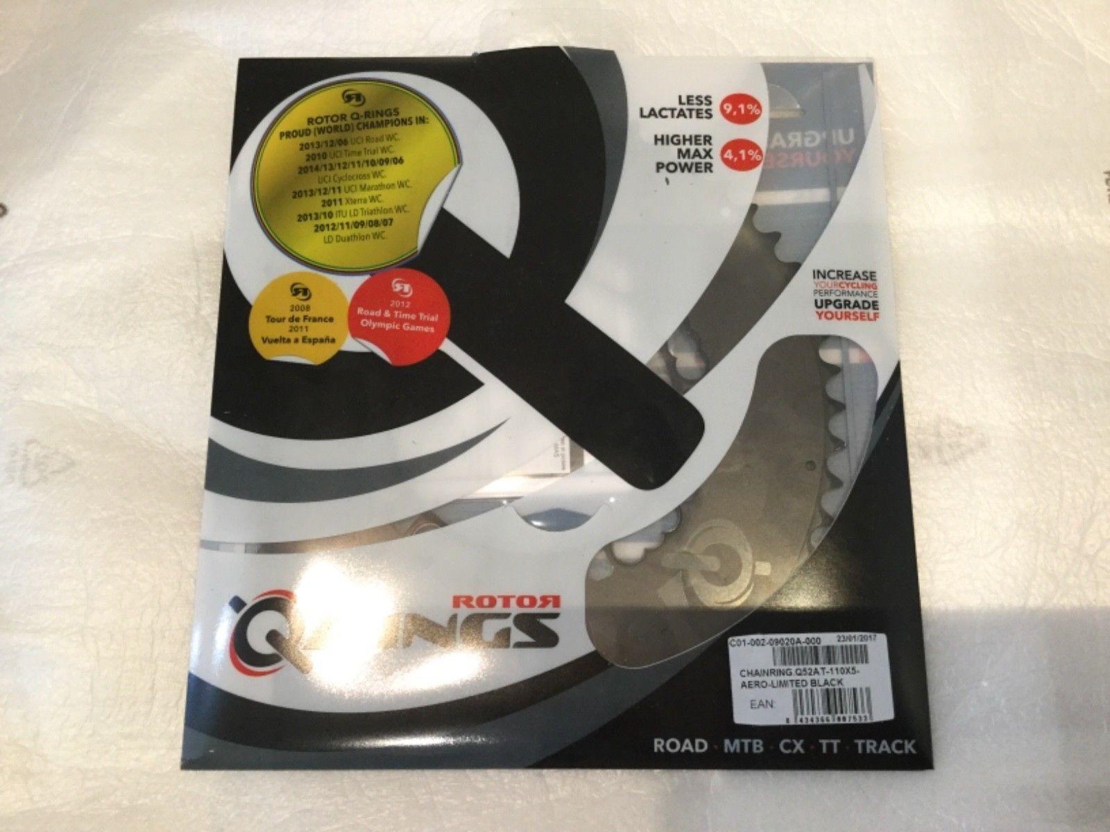 redor Aero Q ring chainring Limited Editon 52T 110 BCD x 5 Bolt NEW RRP .00