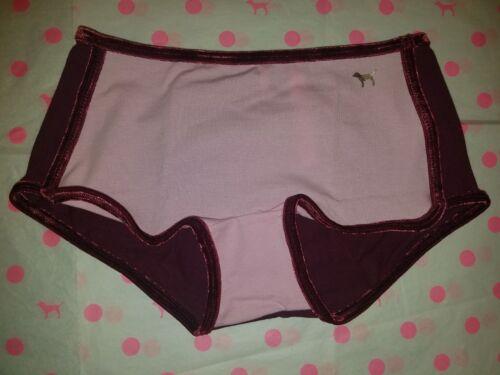 NWT Victoria/'s Secret PINK Velvet Trim Shortie Boyshort Panty S XS L M