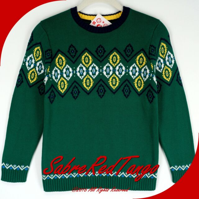 NWT HANNA ANDERSSON SWEDISH NORDIC SWEATER FJORD GREEN 120 7