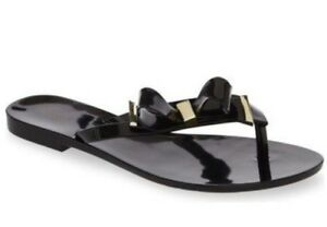 7a8add56817 Melissa Harmonic Make A Wish Bow Sandal Flip Flap Black Gold 8 USA ...