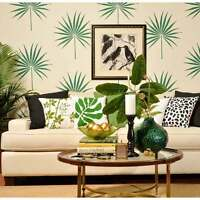 Palmetto Leaf Wall Art Stencil - Tropical Wall Design - Diy Home Decor Stencils