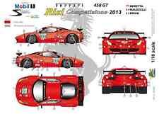 """[FFSMC Productions] Decals 1/18 Ferrari F-458GT """"Risi"""" 12 Hours of Sebring 2013"""