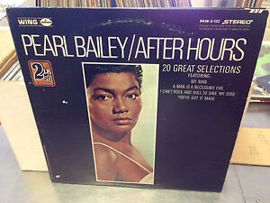 Pearl-Bailey-After-Hours-vinyl-2x-LP-EX-1969-Wing-Records-Stereo