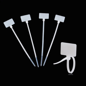 Amgate 100 Pcs Write on Ethernet Wire Zip Ties Cable Mark Tags Nylon Power Label