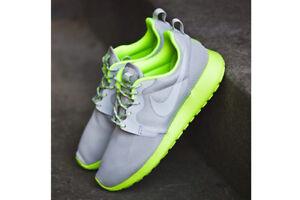 ⭐ £ 75 Nike Roshe Run 8 UK Gris Citron Vert pour femme One Girls Running Free Gym Trainer
