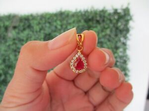 .30 Carat Diamond Yellow Gold Pendant 14k P47 sep