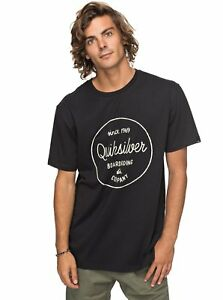 cb4d48be0f QUIKSILVER CLASSIC MORNING SLIDES MENS T-SHIRT BLACK EQYZT04774 KVJ0 ...