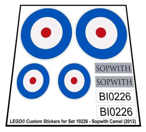 2012 Sopwith Camel Lego® Custom Sticker for Sculptures set 10226