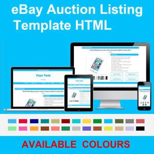 Blue Ebay Auction Listing Template Responsive Photo Gallery 2020 Html Https Ebay