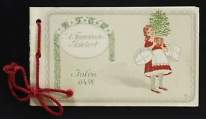 A Fonnesbechs Modemagasin Julekort 1908 advertising booklet Christmas pc Denmark