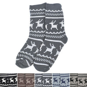 Extra Thick Reindeer Non Skid Thermal Fleece Lined Knitted