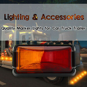 1PC-8-LED-SIDE-MARKER-RED-AMBER-TRUCK-TRAILER-CLEARANCE-LIGHTS-LAMP-12V-24V