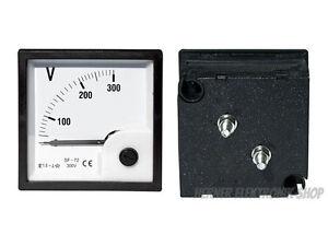 0-20 V DC Einbau Messinstrument Analog Voltmeter CLASS 2,5