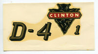 Clinton Engine Chainsaw D-4-1 Decal