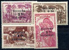 GUINEE 1941 Yvert 172-175 * SATZ SECOURS NATIONAL (F3669