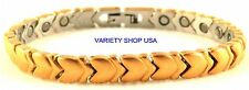 Surgical Stainless Bracelet Hearts Magnetic Jewlery 18k Gold  SS32G 63,000 Guass
