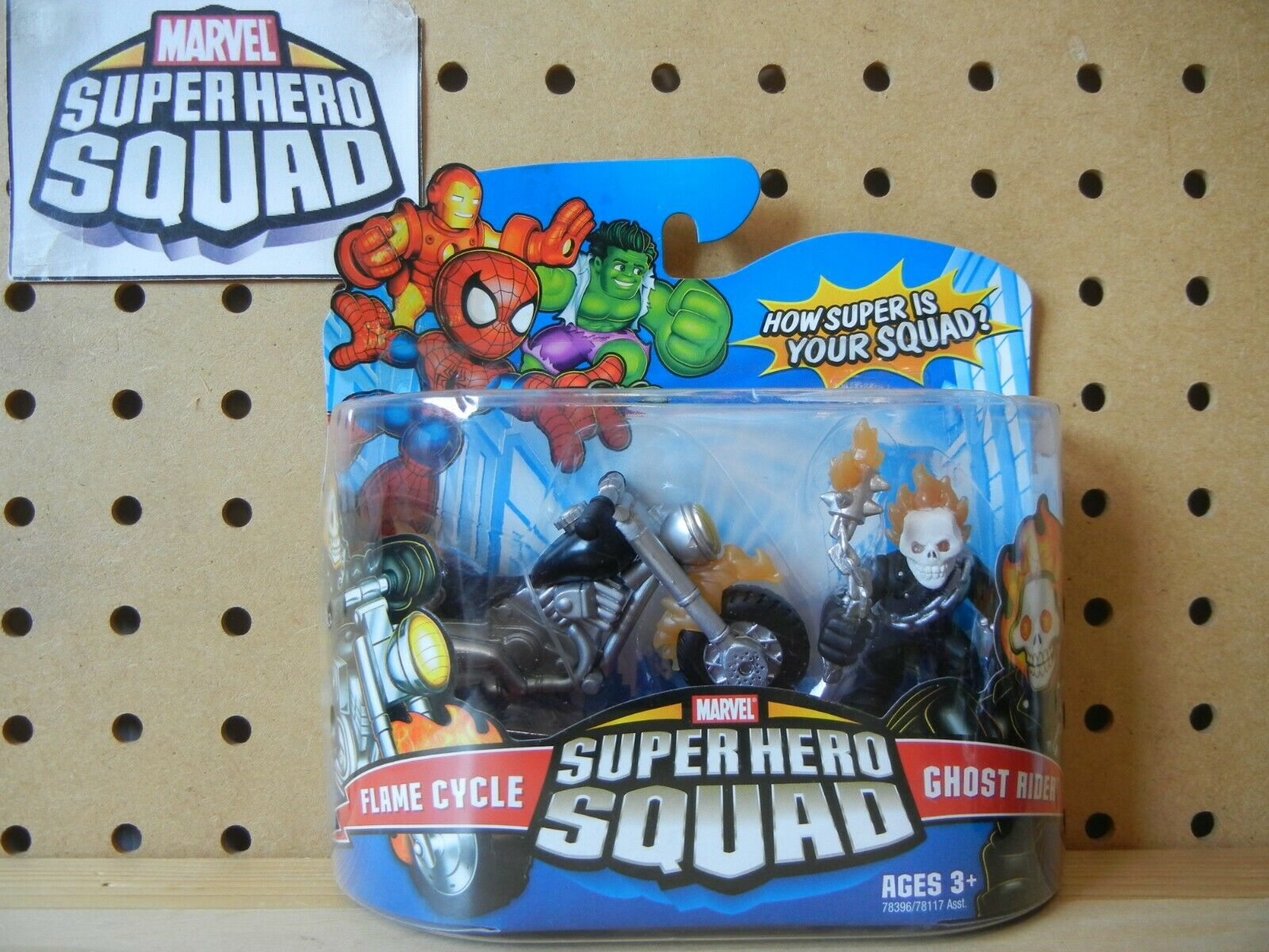 Marvel Super Hero Squad RARE SEALED Wave Wave Wave 18 GHOST RIDER & FLAME CYCLE Motorcycle b91312