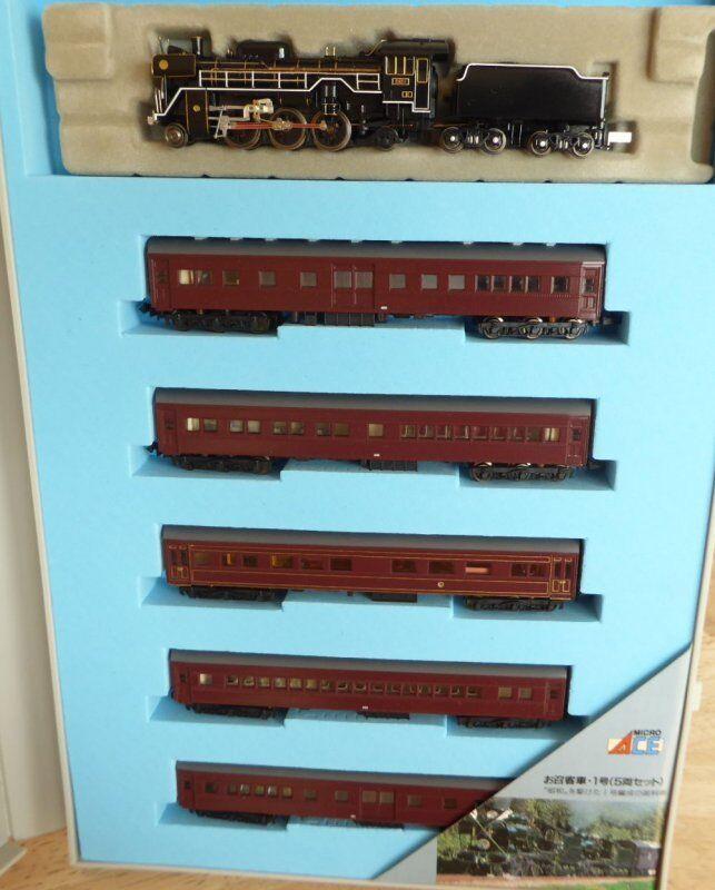 Escala N Micro Ace A-4720 Set de Tren Rápido con Locomotora Vapor + 5 Vagón Jnr