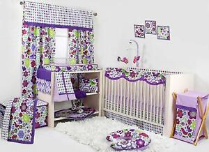 Details About Bacati Botanical Girls 10 Piece Nursery In A Bag Crib Bedding Set With Long Rail