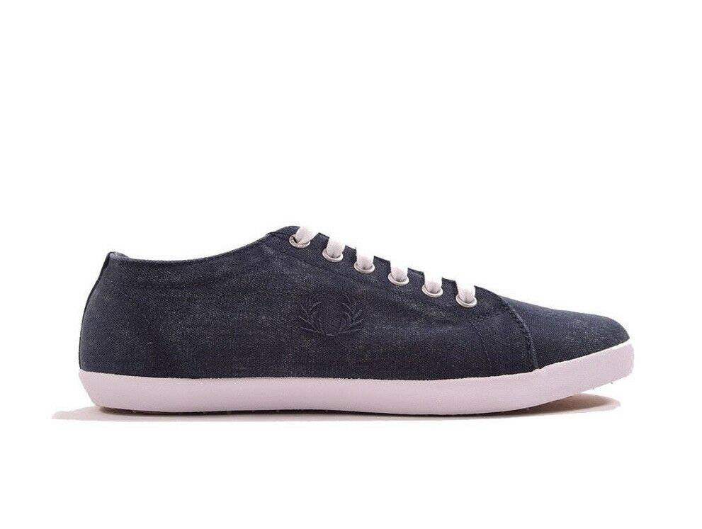 Fred Perry Kingston Overdyed Canvas Plimsolls Trainers Pumps Shoes B1191-608