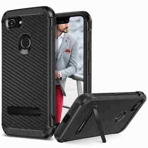 finest selection 598d7 42284 Details about For Google Pixel 3 / XL Shockproof Hybrid Armor Carbon Fiber  Brushed Cover Case