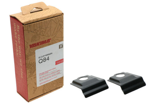 Yakima Q84 Q Tower Clips w// E Pads /& Vinyl Pads #00684 2 clips Q 84 NEW in box
