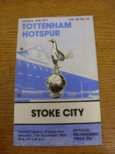 27111976 Tottenham Hotspur v Stoke City  Punched Holes - <span itemprop=availableAtOrFrom>Birmingham, United Kingdom</span> - Returns accepted within 30 days after the item is delivered, if goods not as described. Buyer assumes responibilty for return proof of postage and costs. Most purchases from business s - Birmingham, United Kingdom