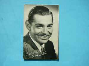 1947-66-TELEVISION-amp-ACTORS-EXHIBIT-CARD-PHOTO-CLARK-GABLE-NICE-EXHIBITS