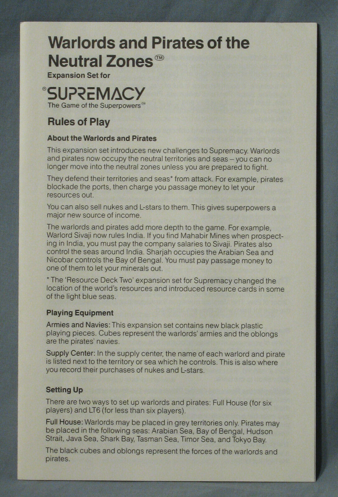 Supremacy Warlords & Pirates of the Neutral Zone, Outstanding Bonus